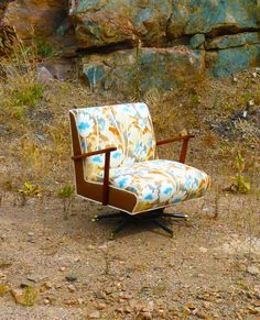 Abstract Floral Vintage Rocker / I like this. E x