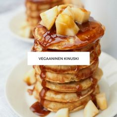 Vegaaninen Kinuski Waffles, Pancakes, Apple Pie, Oreo, Vegan, Breakfast, Food, Morning Coffee, Essen