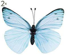Tropical Delight: Deco vlinders Minsa, 2 stuks, H 27 cm