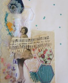 Charlotte Morley; Swan Lake Project- Mixed Media Stitch Samples, fabric, colour, theme, inspiration, stitch, pattern, markings, texture, thread, applique. ALevel Textiles