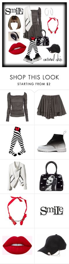 """Smile"" by gigiglow ❤ liked on Polyvore featuring Rick Owens Lilies, Dr. Martens, Lanvin and Heidi Swapp"