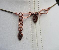 Rustic Copper Brass Wire Wrapped Pendant by LoneRockJewelry