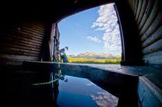 Idaho hot springs mountain biking route.