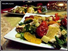 Mancia w kuchni: Sałatka z kurczarkiem i grillowanymi warzywami