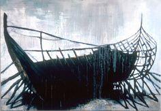 """Olennainen"" Painting by Samuli Heimonen Finland Bad Art, Black N White, Art Studies, Seas, Art Education, Finland, Surrealism, Cool Art"
