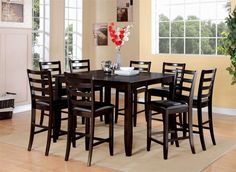 [ Dark Wood Dining Room Table Best Furniture Sets Tables Archive Round And Chairs Sandhurst ] - Best Free Home Design Idea & Inspiration Square Dining Room Table, Pub Table Sets, Dining Room Sets, Dining Room Design, Dining Room Chairs, Dining Furniture, Furniture Sets, Bar Tables, Furniture Decor