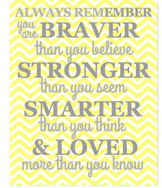 Always Remember Quote Chevron Yellow and by SweetPeaNurseryArt
