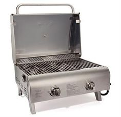 #Conair #Cuisinart #Chef #Style #Stainless #Tabletop #Grill: Chef Style Stainless Tabletop Grill is a #powerful #combination of #raw #grilling #performance and #stylish #engineering #design. The #grills two #stainless #steel #burners #combine for a #total of #20,000 #BTU's of #meat-#searing #heat #sparked by the #simple #twiststart.