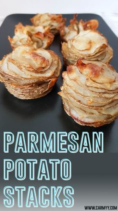 Need something quick and easy to snack on before a meal? Try this yummy parmesan potato stack!