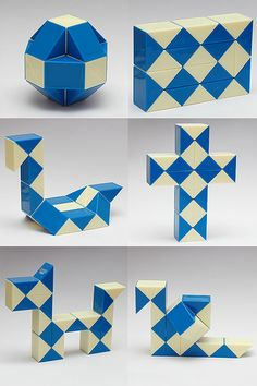 Rubik Snake-- I'd forgotten this! My brother had one and I played with it