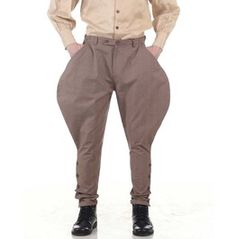 ThePirateDressing Steampunk Cosplay Costume Classic Victorian Mens Pants Trousers C1331