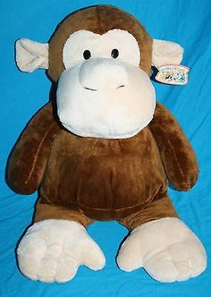"Best Made Toys Ltd Monkey brown plush large 21"" stuffed animal NWT Target New"