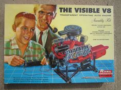 Vintage Renwal The Visible V8 Engine Model Kit 1960 w Box 802 Barely Used | eBay