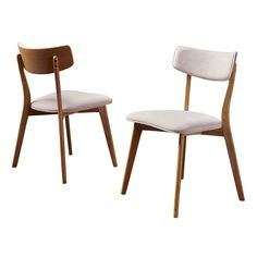 Set Of 2 Chazz Mid-Century Dining Chair Light Beige - Christopher Knight Home : Target Fabric Dining Chairs, Modern Dining Chairs, Kitchen Chairs, Kitchen Dining, Kitchen Seating, Gold Kitchen, Kitchen Nook, Dining Room Bar, Dining Chair Set