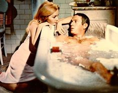 Tuesday Weld as Christian with Steve McQueen in The Cincinnati Kid. Description from sensationalsharontate.blogspot.ca. I searched for this on bing.com/images