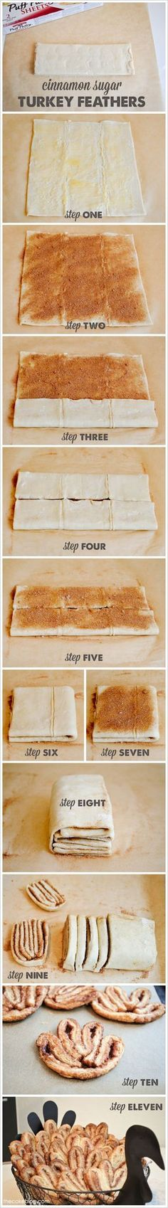Puff Pastry Turkey Feathers | TheCakeBlog.com
