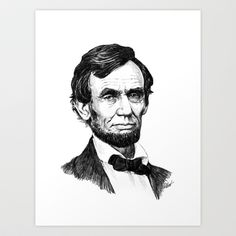 President Abraham Lincoln Art Print by Harry A West - $15.60