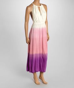 Another great find on #zulily! Purple & Pink Ombré Strapless Maxi Dress by Boemo #zulilyfinds