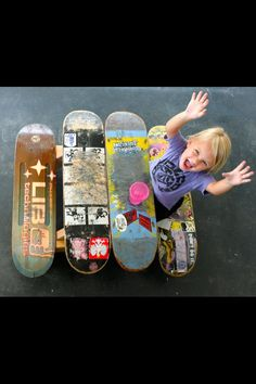 Take old skateboards and make a picnic table for your children!