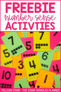 Free activities, printable worksheets, games and ideas to help develop number sense in the primary grades. Free Ten Frame Playing Cards to use in place of regular playing cards to help with number recognition, visual support addends to ten, and develop basic number sense. Perfect activities to teach intervention, Kindergarten, first grade and 2nd grade.