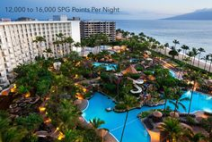 12,000 to 16,000 SPG Points Per Night