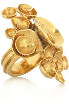 abstract gold flower ring