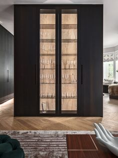 Kitchen Closeup | Exploring Stockholm-based Designers Kitchens by Paul Beddinge, Tall Cabinet Storage, Locker Storage, Rammed Earth Homes, Glass Showcase, Bespoke Kitchens, Luxury Kitchens, Design Moderne, Cuisines Design