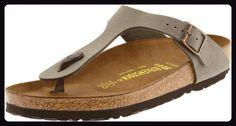 Birkenstock Gizeh Damen Grau Leder Riemen Sandalen Schuhe Größe Neu EU 38 - Sandalen für frauen (*Partner-Link)