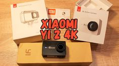 Экшн камера XIAOMI YI 2 4K, монопод и аквабокс. Камера для видеоблога. Р...