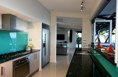 kitchen # servery # glass splash back