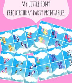 My Little Pony Free Birthday Party Printables