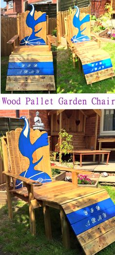 We really feel proud that we have done so much work that you would find it hard to pick out one wood pallet project for the time being because there is such a vast variety of different wooden pallet creations. Pallet Clock, Diy Pallet Sofa, Diy Pallet Projects, Pallet Ideas, Pallet Garden Furniture, Pallets Garden, Furniture Projects, Pallet Dining Table, Diy Outdoor Table
