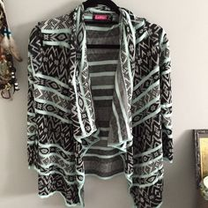 Aztec Turquoise Shall NWT, perfect condition, never worn. Sweaters Shrugs & Ponchos
