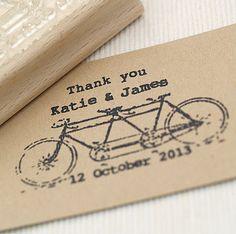 Tandem Bike Wedding Favours Stamp