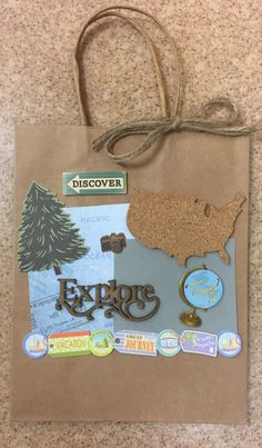 A personal favorite from my Etsy shop https://www.etsy.com/listing/490274643/travel-themed-gift-bag