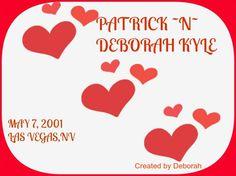 DEBORAH ~N~PATRICK KYLE MAY 7, 2001