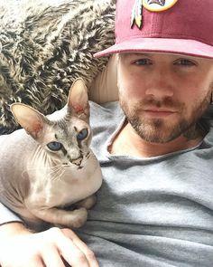 "Danny Schäfer on Instagram: ""I love my Pussycat ❤️❤️❤️ #cat#catsofinstagram#imsiri#tattoo#tattooboy#catandtattoo#catlover#miau#siam#siambrandname#beard#redskinns#red#uandmeforever"""
