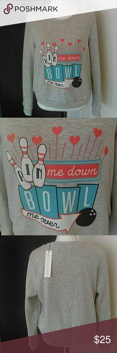 """MinkPink """"Bowl Me Over"""" Sweatshirt This pullover sweatshirt is so ridiculously soft and cute! I love it! It has the softest interior. MINKPINK Tops Sweatshirts & Hoodies"""