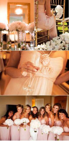 blush dresses with peonies! This WILL be my wedding. ahhhhh so perfect @Denisse 'Garcia' Campbell Olivo  @Lorena Iovescu Perla  @Adriana Martínez O'Sullivan