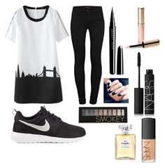 """""""Untitled #6"""" by kartseva-ana on Polyvore featuring J Brand, NIKE, Marc Jacobs, By Terry, Forever 21, NARS Cosmetics and Chanel"""