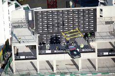 V8 Vantage GTE Challenger suspended over 300 feet above the  ground at Dollar Bay