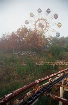 There is something so haunting yet breathtaking about abandoned amusement parks..