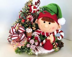 Whimsical Handmade Creations & Vintage by ParadeOfMemories on Etsy Whimsical Christmas, Etsy Christmas, Christmas Items, Christmas Wreaths, Summer Centerpieces, Floral Centerpieces, Fall Floral Arrangements, Etsy Handmade, Handmade Gifts