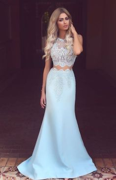 Light Blue Prom Dresses, Satin Prom Dress, #prom #promdress #dress #eveningdress #evening #fashion #love #shopping #art #dress #women #mermaid #SEXY #SexyGirl #PromDresses