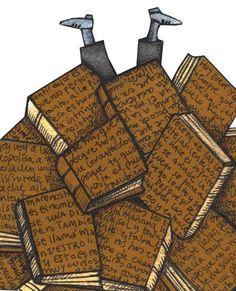 Dive into reading / Sumérgete en la lectura (ilustración de Pilar Roca)