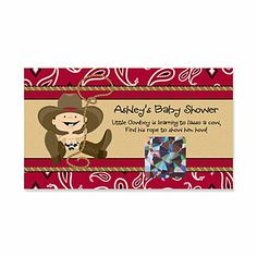 Little Cowboy - Personalized Baby Shower Scratch Off Cards - 22 ct   BigDotOfHappiness.com
