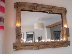 Driftwood Mirror is the best idea to give your home style