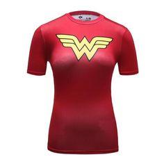 Ladies DC Comics Marvel Superman Batman/ Wonder Women etc Blouses and Tops wonder woman compression shirt Superman Shirt, Wonderwoman Shirt, Superhero Superman, Marvel Shirt, Spiderman, Batman Wonder Woman, Wonder Women, Sexy Shirts, Shirts For Girls