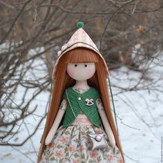 Гномик - розовый, интерьерная кукла, текстильная кукла, человечки, кукла на заказ, кукла в подарок