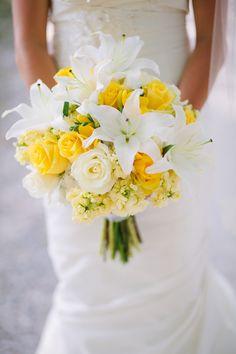 yellow wedding flowers, outdoor wedding